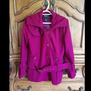 60% wool pink jacket